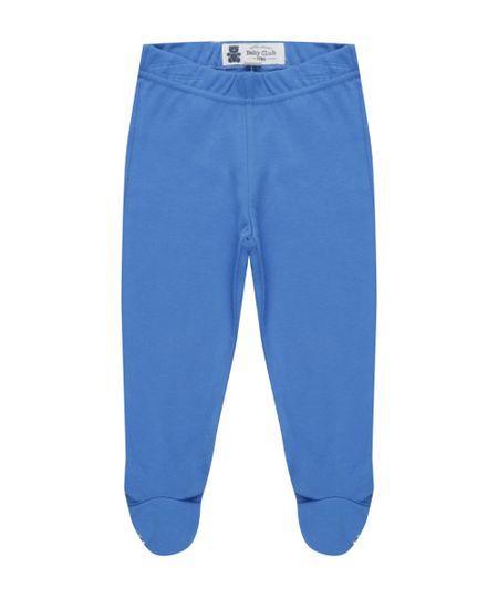 Calça em Algodão + Sustentável Azul
