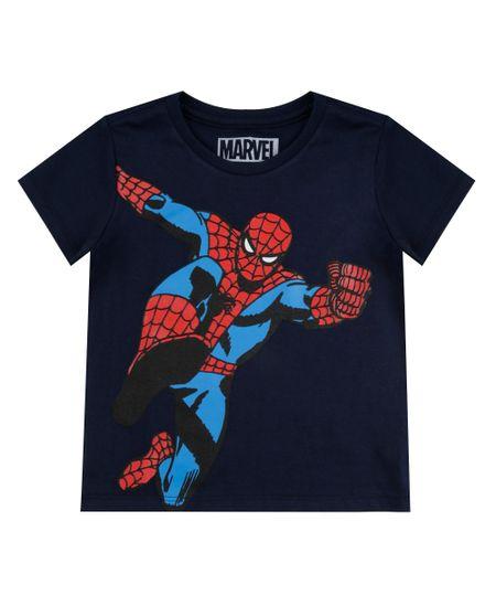 Camiseta Homem Aranha Azul Marinho