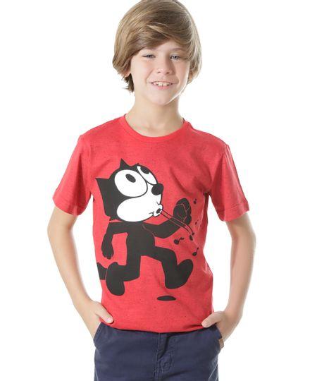 Camiseta Gato Félix Vermelha