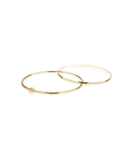 Kit de 2 Braceletes Dourado