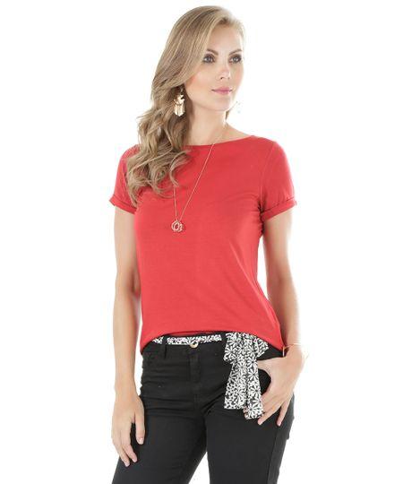 Blusa Básica Vermelha