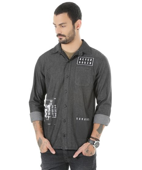 Camisa-Jeans-com-Patch-Preta-8535367-Preto_1
