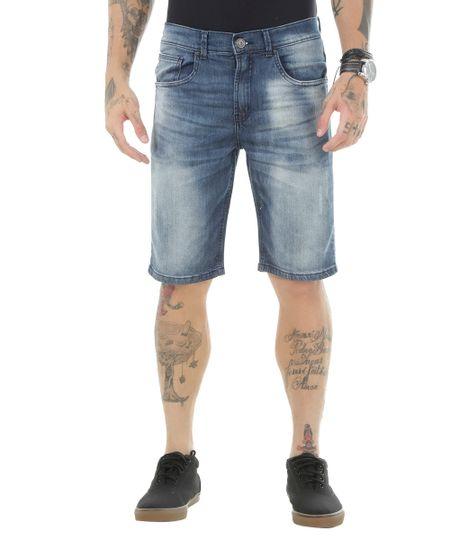 Bermuda Jeans Reta Azul