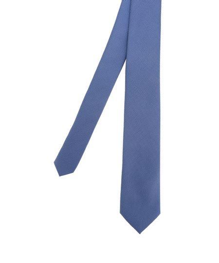 Gravata em Jacquard Listrada Azul