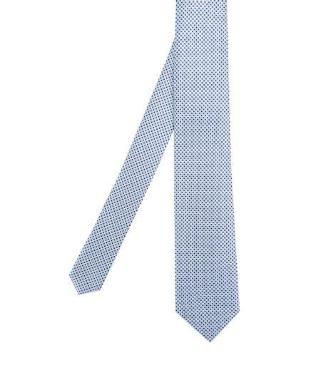 Gravata em Jacquard Estampada Azul Claro