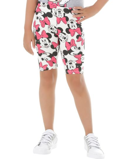 Bermuda Estampada Minnie Off White