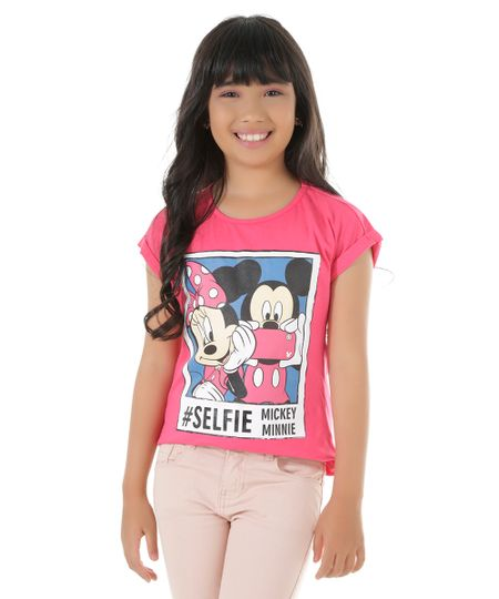 Blusa Mickey & Minnie Pink