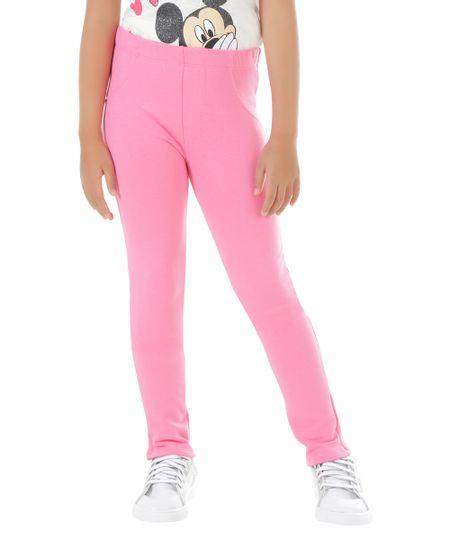 Calça em Moletom Pink