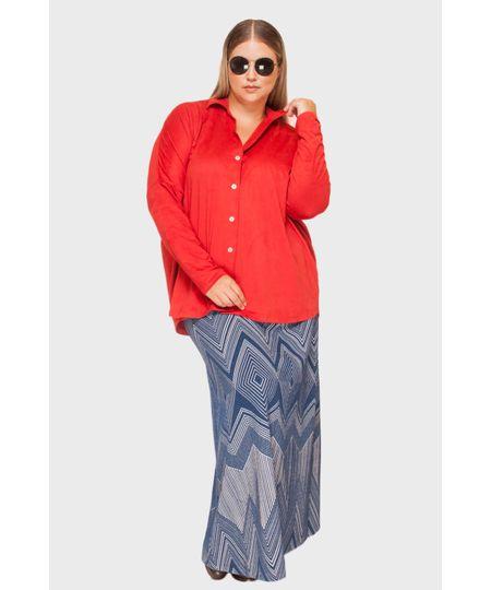 Saia Jacquard Indigo Plus Size