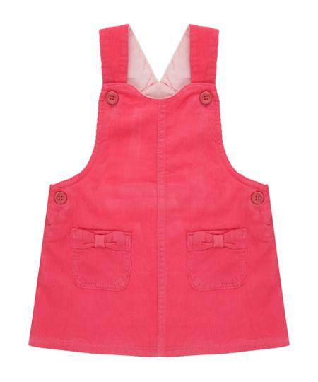Salopete em Veludo Cotelê Pink