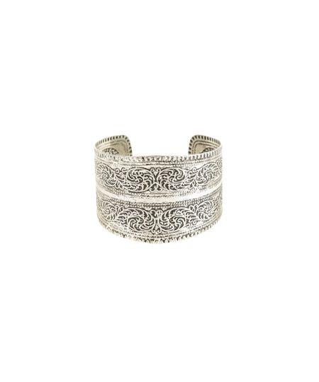 Bracelete Texturizado Prateado