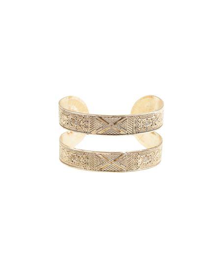 Bracelete Texturizado Dourado
