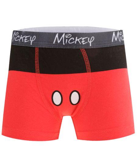Cueca Boxer Mickey Vermelha