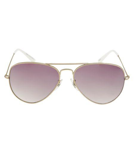 Óculos Aviador Feminino Oneself Dourado
