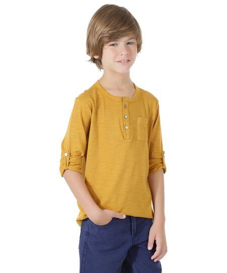 Camiseta Básica Flamê Caramelo