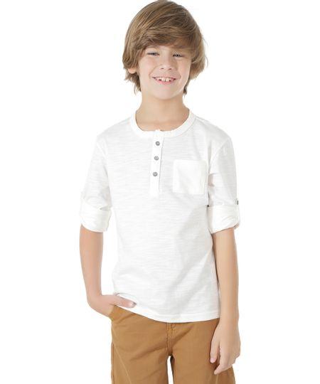 Camiseta Básica Flamê Off White