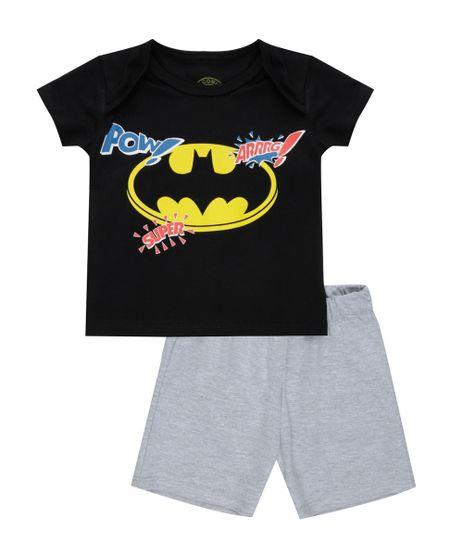 Conjunto-de-Camiseta-Preta---Bermuda-Batman-Cinza-Mescla-8543790-Cinza_Mescla_1