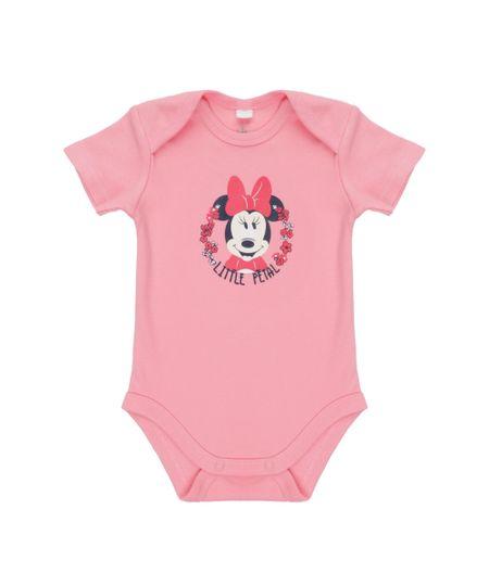 Body Minnie em Algodão + Sustentável Rosa Claro