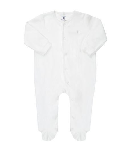 Macacão Unissex em Plush de Algodão + Sustentável Branco