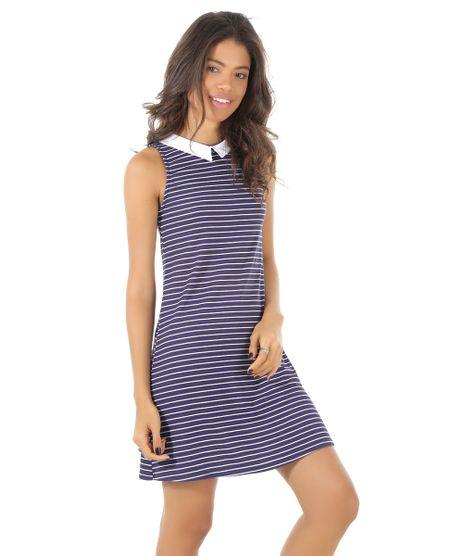 Vestido-Listrado-Canelado-Azul-Marinho-8541756-Azul_Marinho_1