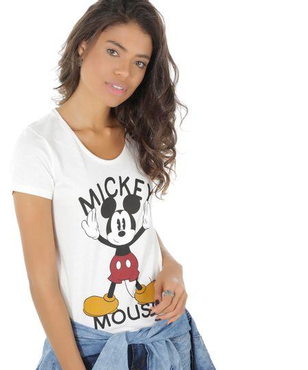Blusa Mickey Off White