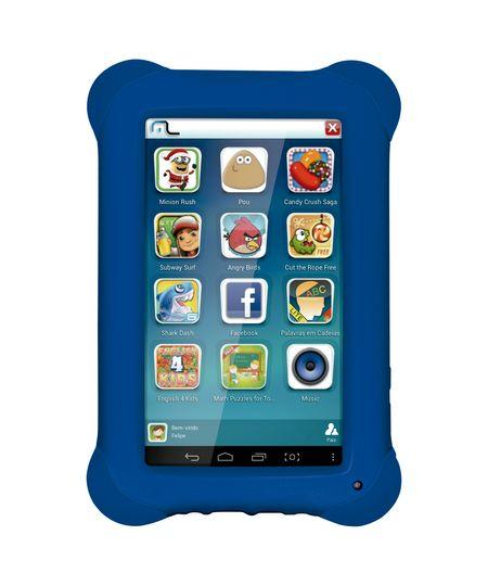 Tablet Multilaser Kid Pad Azul Quad Core Dual Câmera Wi-Fi Tela Capacitiva 7' Memória 8GB - NB194