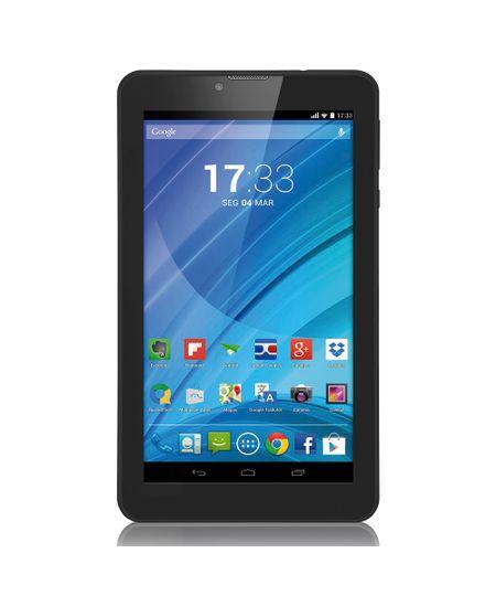 Tablet Multilaser Preto M7 3G Quad Core Câmera Wi-Fi Tela 7' Memória 8GB Dual Chip - NB223