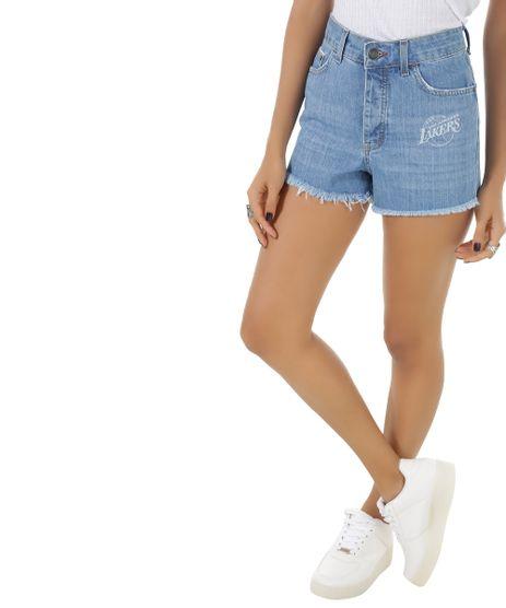 Short-Jeans-Relaxed-NBA-Los-Angeles-Lakers-Azul-Claro-8548361-Azul_Claro_1