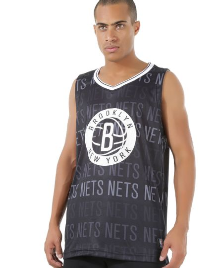 Regata NBA Brooklyn Nets Preta