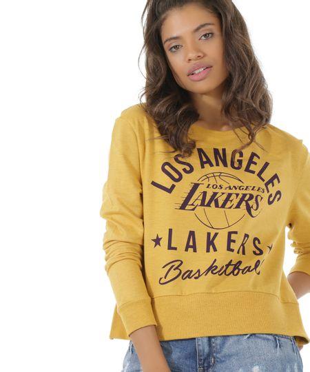 Blusão em Moletom NBA Los Angeles Lakers Amarelo