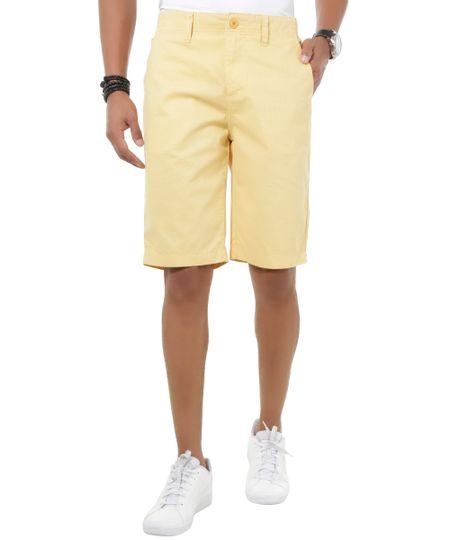 Bermuda Slim Estampada Amarela