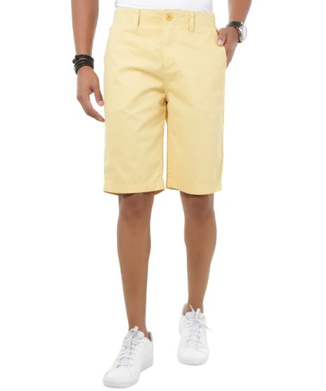 Bermuda-Slim-Estampada-Amarela-8445407-Amarelo_1