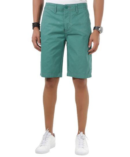 Bermuda Slim Estampada Verde