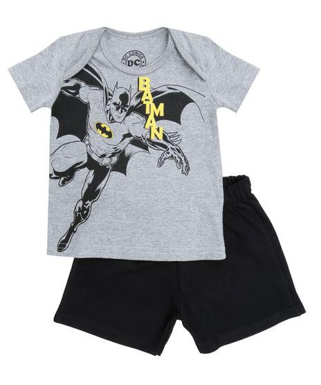 Conjunto-de-Camiseta-Cinza-Mescla---Bermuda-Batman-Preta-8513070-Preto_1