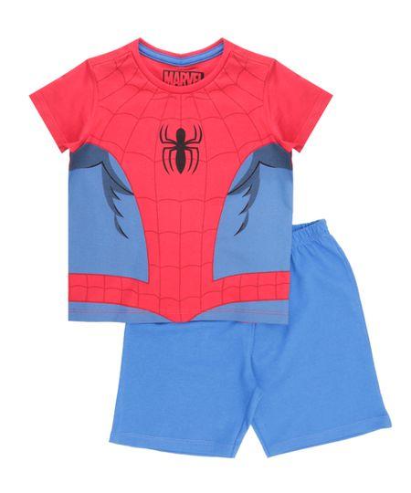 Pijama Homem Aranha Vermelho