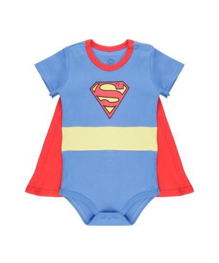 Body Super Homem com Capa Azul