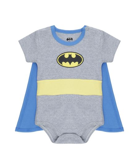 Body Batman com Capa Cinza Mescla