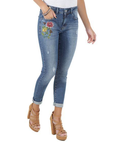 Calca-Jeans-Skinny-com-Bordado-Azul-Medio-8566524-Azul_Medio_1