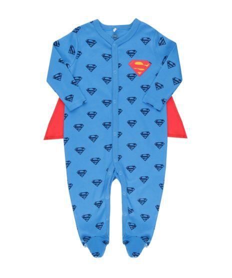 Macacao-Estampado-Super-Homem-com-Capa-em-Algodao---Sustentavel-Azul-8462086-Azul_1
