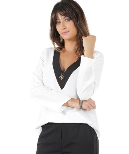 Blusa Mullet Off White