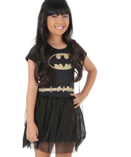 Vestido Fantasia Batman Preto