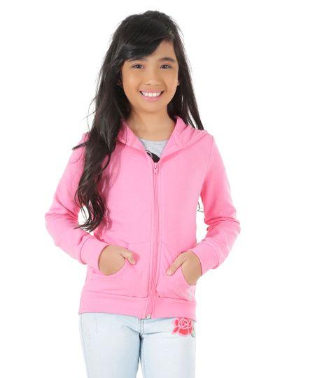 Blusão em Moletom Pink