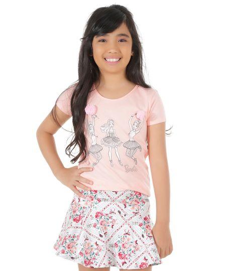 Blusa Barbie Rosa Claro