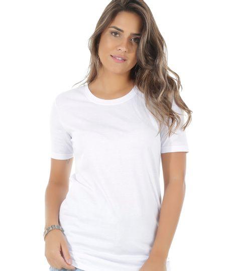 Blusa Básica Longa Branca