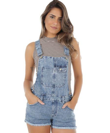 jardineira jeans c a