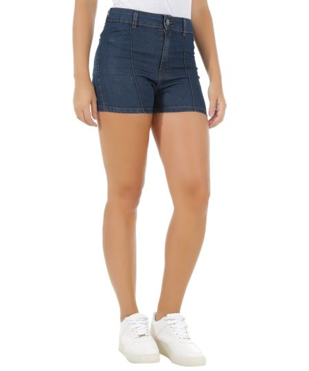 Short Jeans Hot Pant Azul Escuro