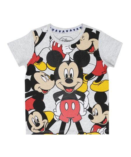 Camiseta Mickey Cinza Claro