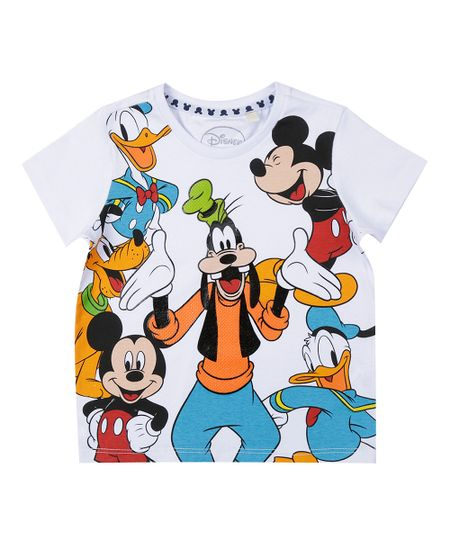 Camiseta Turma do Mickey Branca
