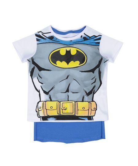 Camiseta Batman com Capa Branca