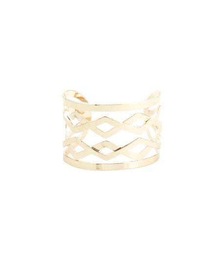 Bracelete Geométrico Dourado